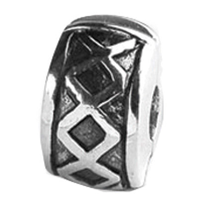 Prerogatives Sterling Hinged X Clip Bead