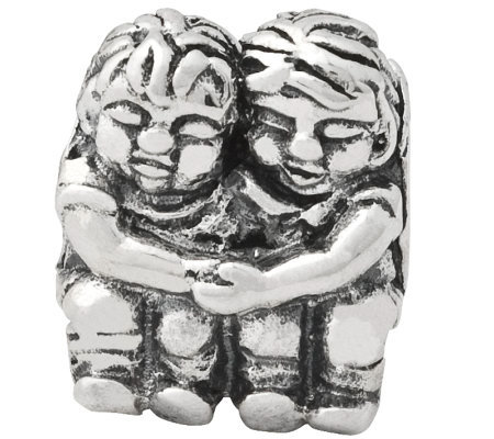 Prerogatives Sterling Silver Two Kids Bead