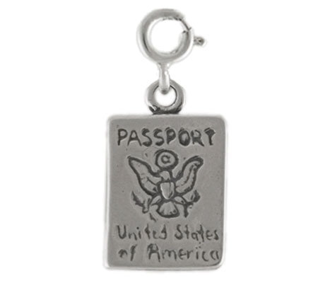 Sterling Passport Charm