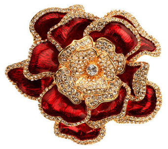 Joan Rivers Elegance in Bloom Pave' Rose Pin - J269166