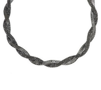 VicenzaSilver Sterling Bold Double Wrapped Coreana Necklace - J288266