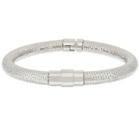 Stainless Steel Textured Hinged Bangle