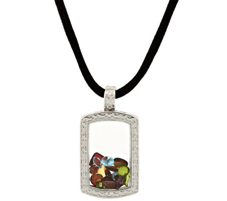 Attitudes by Renee Life 1/2 Full Pendant Necklace