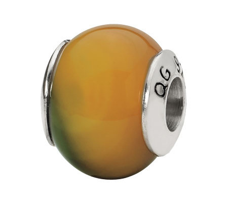 Prerogatives Sterling Yellow-Green Agate Gemstone Bead