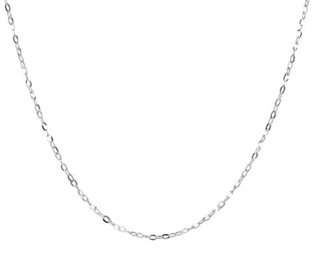 "18"" Fine Hammered Oval Link Chain, 14K Gold"