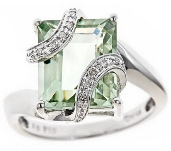 Sterling Gemstone & White Diamond Accent Ring - J310166