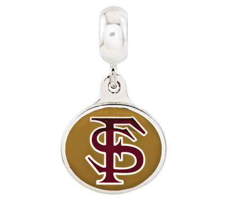 Sterling Silver Florida State University DangleBead