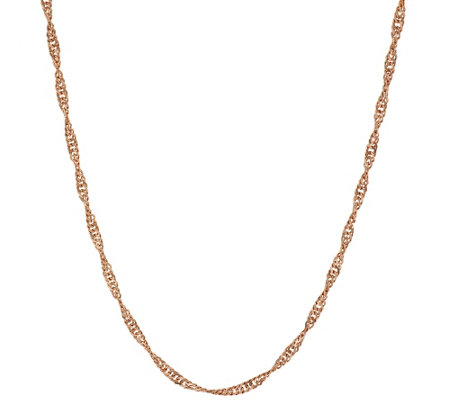 "Bronze 24"" Solid Singapore Chain Necklace by Bronzo Italia"