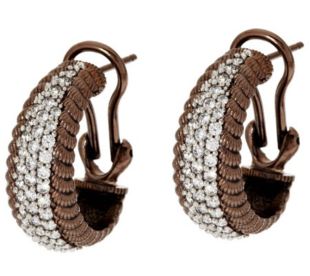 """As Is"" Judith Ripka Sterling & 14K Clad Verona Hoop Earrings"