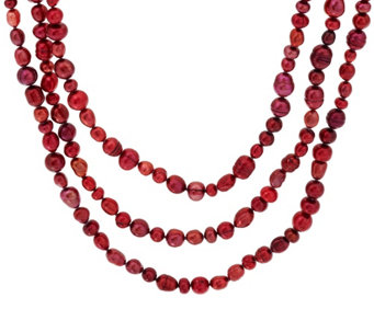 "Honora Cultured Pearl 80"" Endless Necklace - J323666"