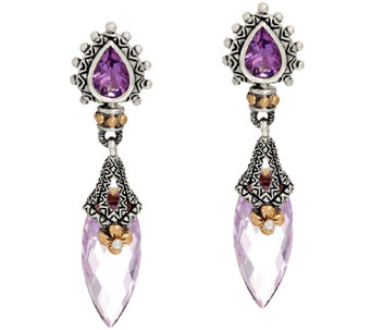 Barbara Bixby Sterling & 18K 9.20 cttw Gemstone Drop Earrings - J326566