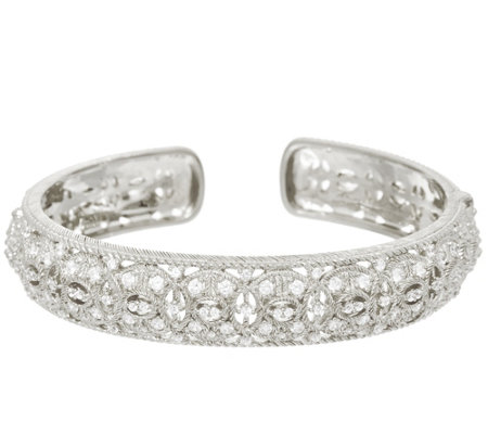 Judith Ripka Sterling Silver Diamonique Estate Cuff Bracelet