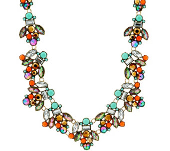 LOGO Links by Lori Goldstein Mixed Stone Statement Necklace - J329466