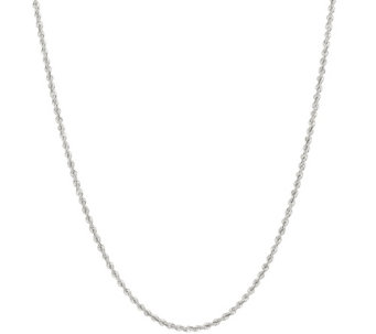 """As Is"" Vicenza Silver Sterling 30"" Adjustable Chain, 10.6g - J329766"