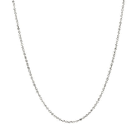 """As Is"" Vicenza Silver Sterling 30"" Adjustable Chain, 10.6g"