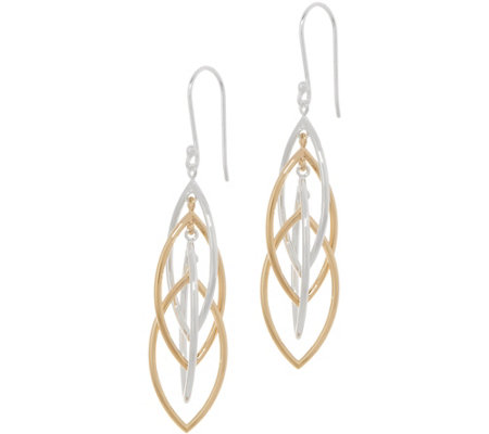 """As Is"" Sterling Silver Marquise Drop Earrings by Silver Style"