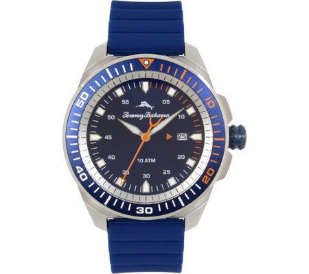 Tommy Bahama Surfside Blue Silicone-Strap SportWatch