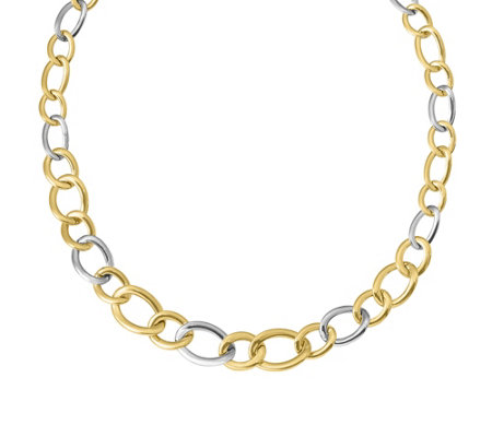 "Italian Gold 18"" Graduated Curb Link Necklace 14K, 15.0g"