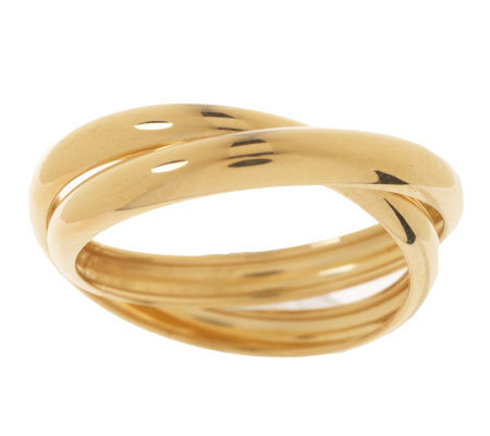 EternaGold Polished Rolling Ring 14K Gold