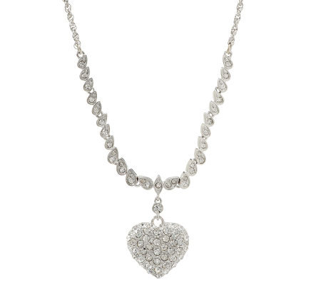 KJL Pave' Heart Necklace
