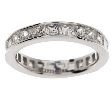Epiphany Diamonique 1.45 ct tw Silk Fit Eternity Ring