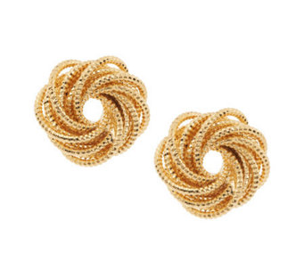 Susan Graver Textured Sparkle Cut Earrings - J271367