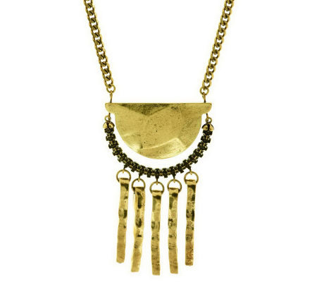 """As Is"" Wildlife by Heidi Klum Hammered Tassel Aztec Necklace"
