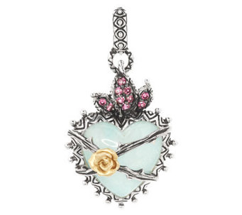 Barbara Bixby Sterling & 18K Multi-Gemstone Doublet Heart Charm - J284367