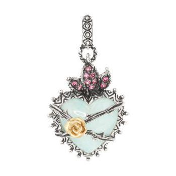 Barbara Bixby Sterling & 18K Multi-Gemstone Doublet Heart Charm