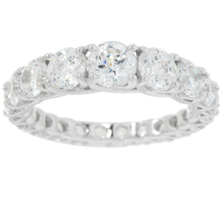 Epiphany Diamonique 100-Facet Graduated Eternity Band