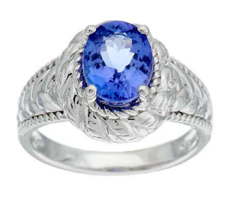 1.60 ct tw Oval Tanzanite Sterling Ring