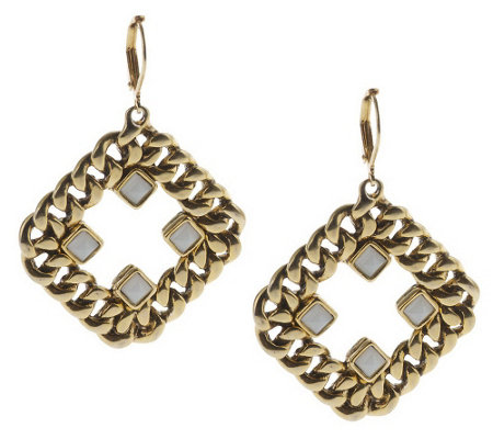 """As Is"" Curblink Chain & Crystal Earrings"