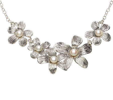Hagit Gorali Sterling Cultured Freshwater PearlBloom Necklace