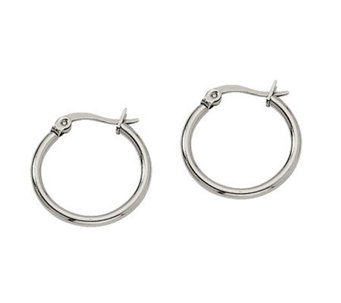 "Stainless Steel 3/4"" Hoop Earrings - J302167"