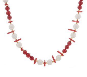 "Lee Sands Red & White Coral 21"" Necklace - J302767"