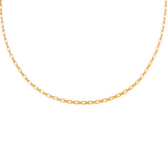 Veronese 18K Clad 16&quot Polished Rectangular LinkChain - J304667