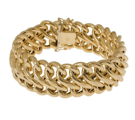 "Arte d'Oro 8"" Polished Figure-Eight Bracelet, 18K, 30.0g"