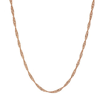 "Bronze 36"" Solid Singapore Chain Necklace by Bronzo Italia - J317167"