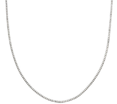 "24"" Polished Super Cube Chain by Silver Style"