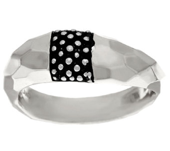 Michael Dawkins Sterling Choice Of Metal Color Hammered & Texture Ring - J324367
