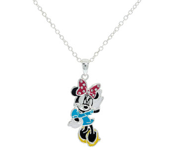 "Disney Enamel Mickey Pendant with 18"" Chain & Musical Box - J324767"