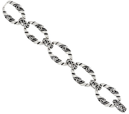 Carolyn Pollack Sterling Silver Signature Link Small Bracelet 34.0g