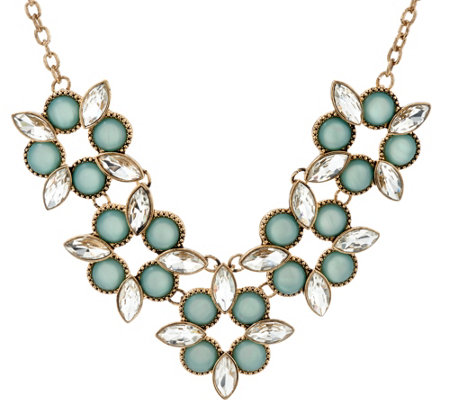 Susan Graver Geometric Floral Statement Necklace