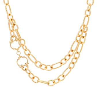 "C. Wonder 18"" Layered Chain Necklace with Status ""C"" Station - J328867"