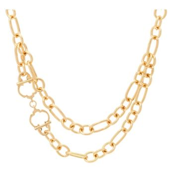 C. Wonder 18 Layered Chain Necklace with Status C Station