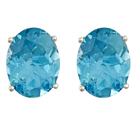 Premier 1.75 ct tw Oval Aquamarine Stud Earrings, 14K