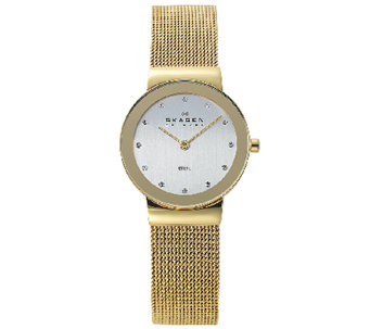 Skagen Women's Goldtone Mesh Bracelet Watch - J336267