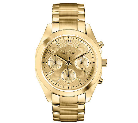 Caravelle New York Women's Goldtone Satin & Polished Watch