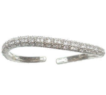 Judith Ripka Sterling & Diamonique Pave Wave Cu ff - J338567