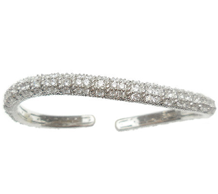 Judith Ripka Sterling & Diamonique Pave Wave Cuff